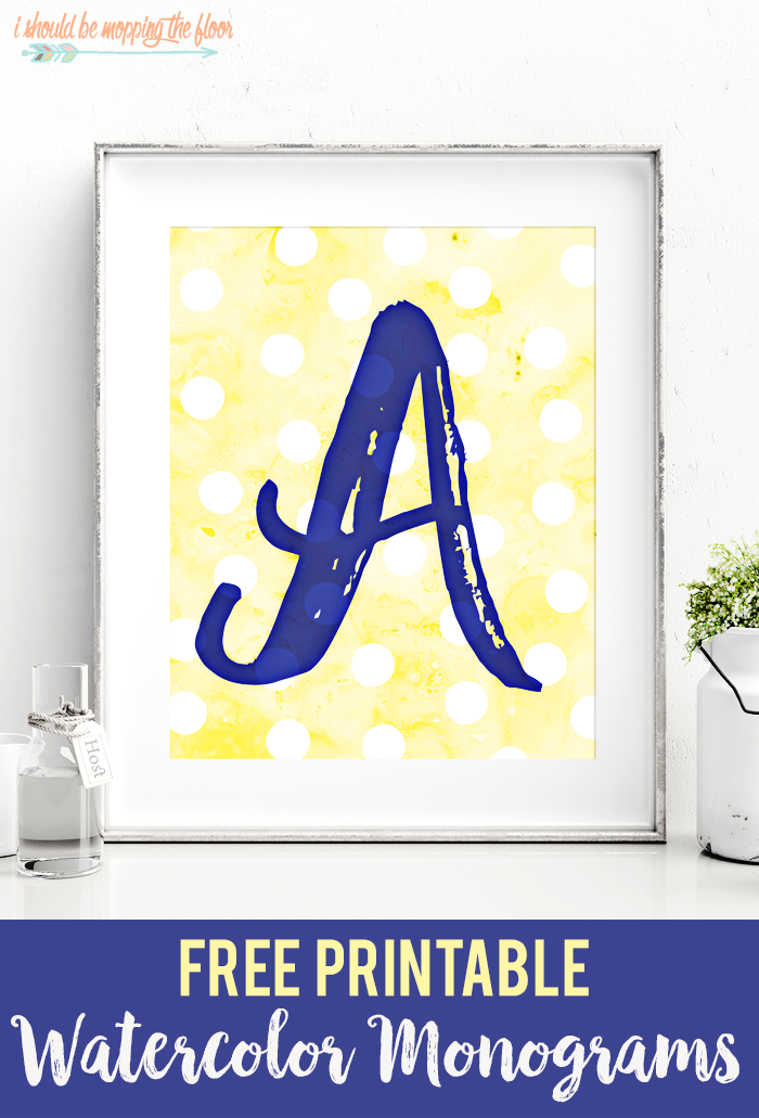 Free Printable Watercolor Monograms | Letters A Z Available For Instant  Download.