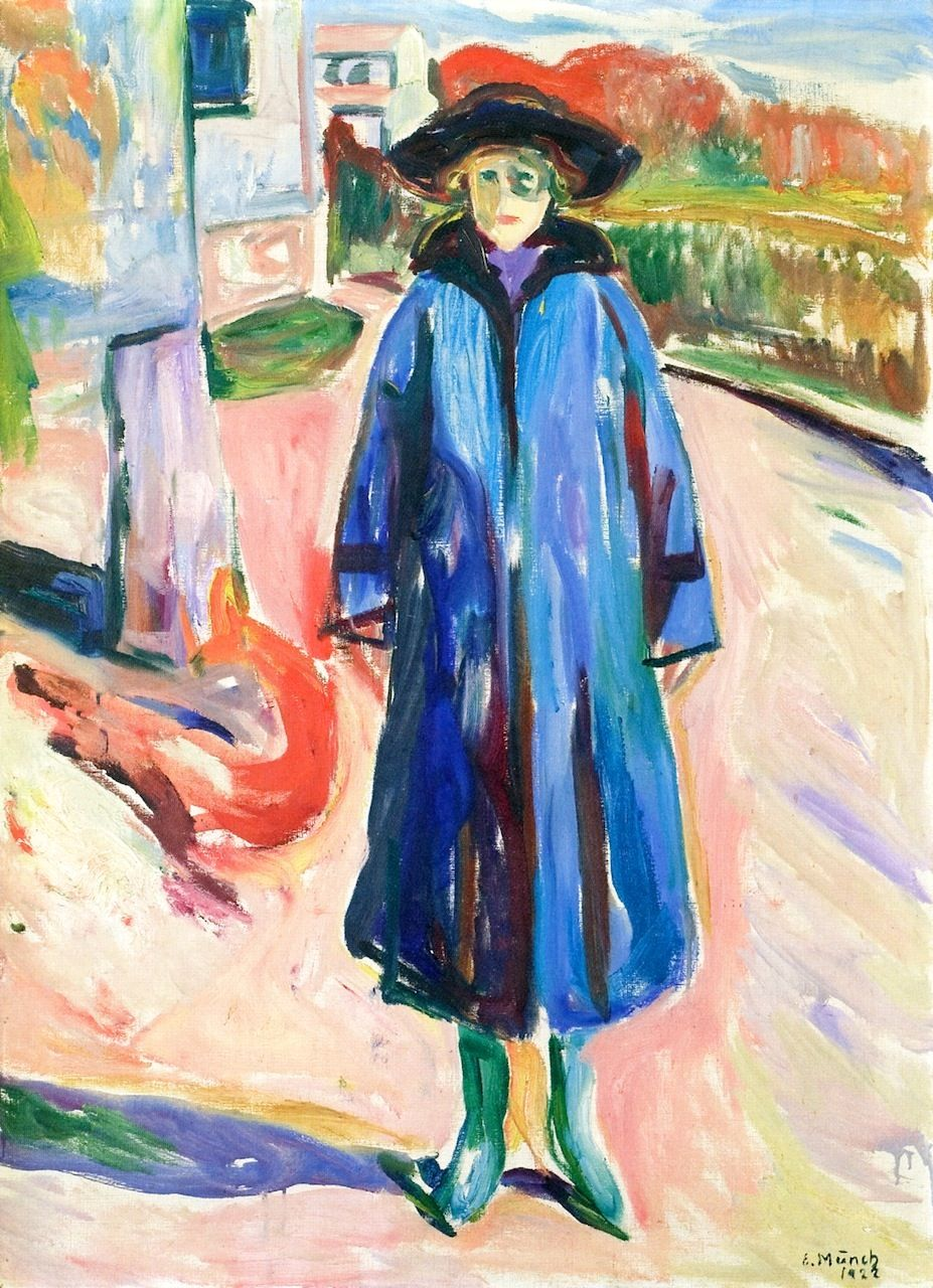 bofransson:  Blue Coat in Sunshine Edvard Munch - 1922