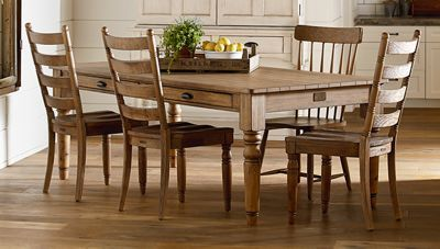 Magnolia Home 7 Taper Turned Dining Table Jordan S Furniture