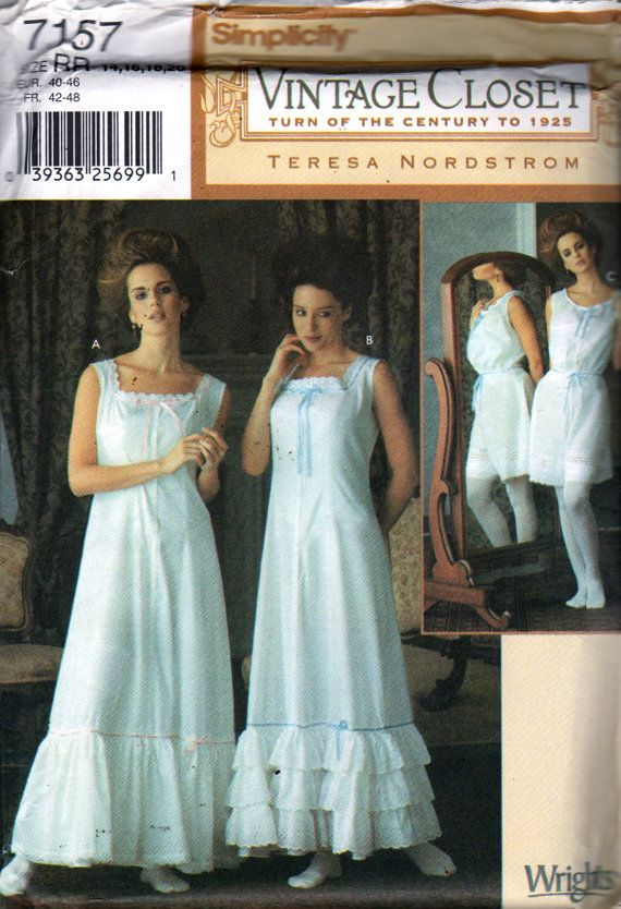 Simplicity++7157+Misses+VICTORIAN++Lingerie+Pattern+by+mbchills
