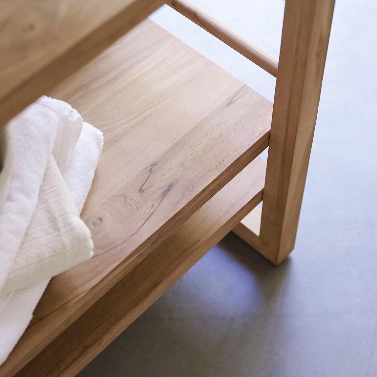 Regal Fur Badezimmer Aus Teakholz 115 Sera In 2020 Bathroom