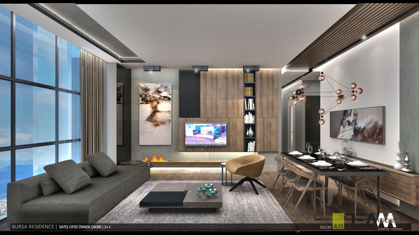 Interiors Rnek Daire Imimari Tasarm ScholarshipsArchitecture Interior DesignLiving RoomPortfolio