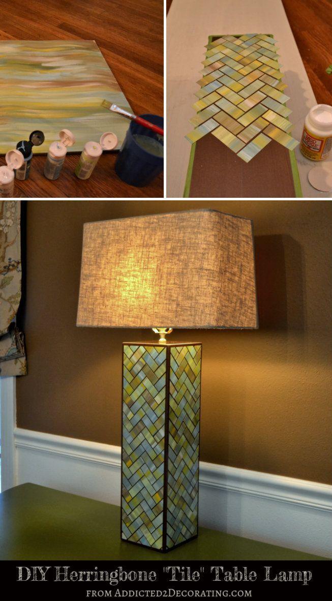 How to Make Watercolor Lamp Base - DIY & Crafts - Handimania