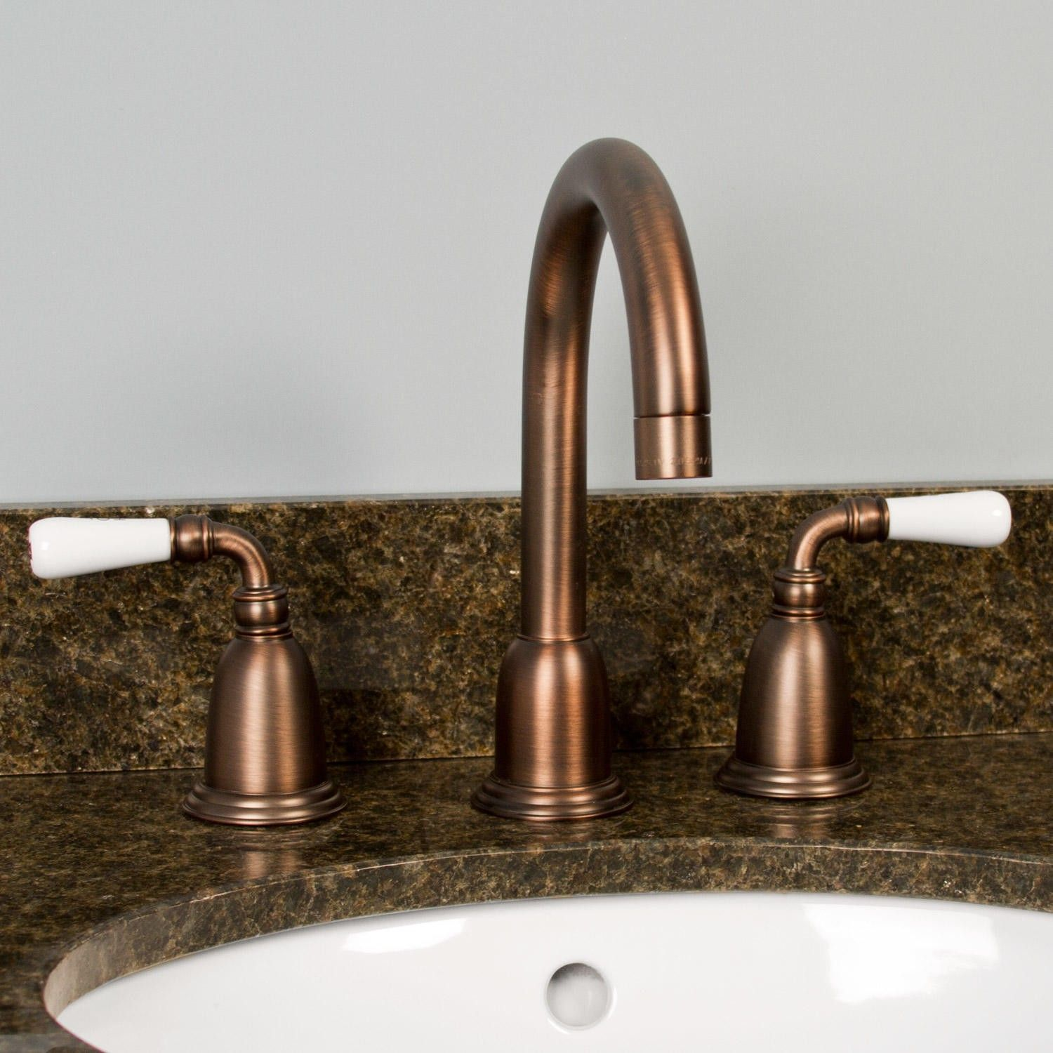 Florence Widespread Bathroom Faucet  Porcelain Lever Handles Unique Porcelain Handle Bathroom Faucet Review