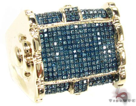 Known and respected throughout the jewelry world TraxNYC is here to offer you the highest-quality Mens Diamond Rings at the lowest prices possible. This piece is truly enchanting with its accent of Round cut diamonds and a captivating shade of Blue . With an almost angelic quality the diamonds glitter in their Micro-Pave setting adding up to a total of 0.70 ct. To see more items like this one visit our Mens Diamond Rings collection. Have you ever thought about creating your own Custom…