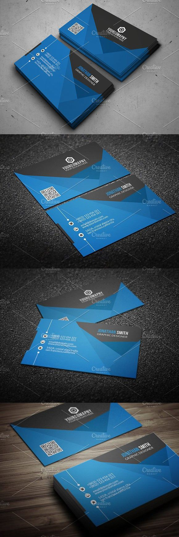 Clean Business Card | Business Card Templates | Cleaning