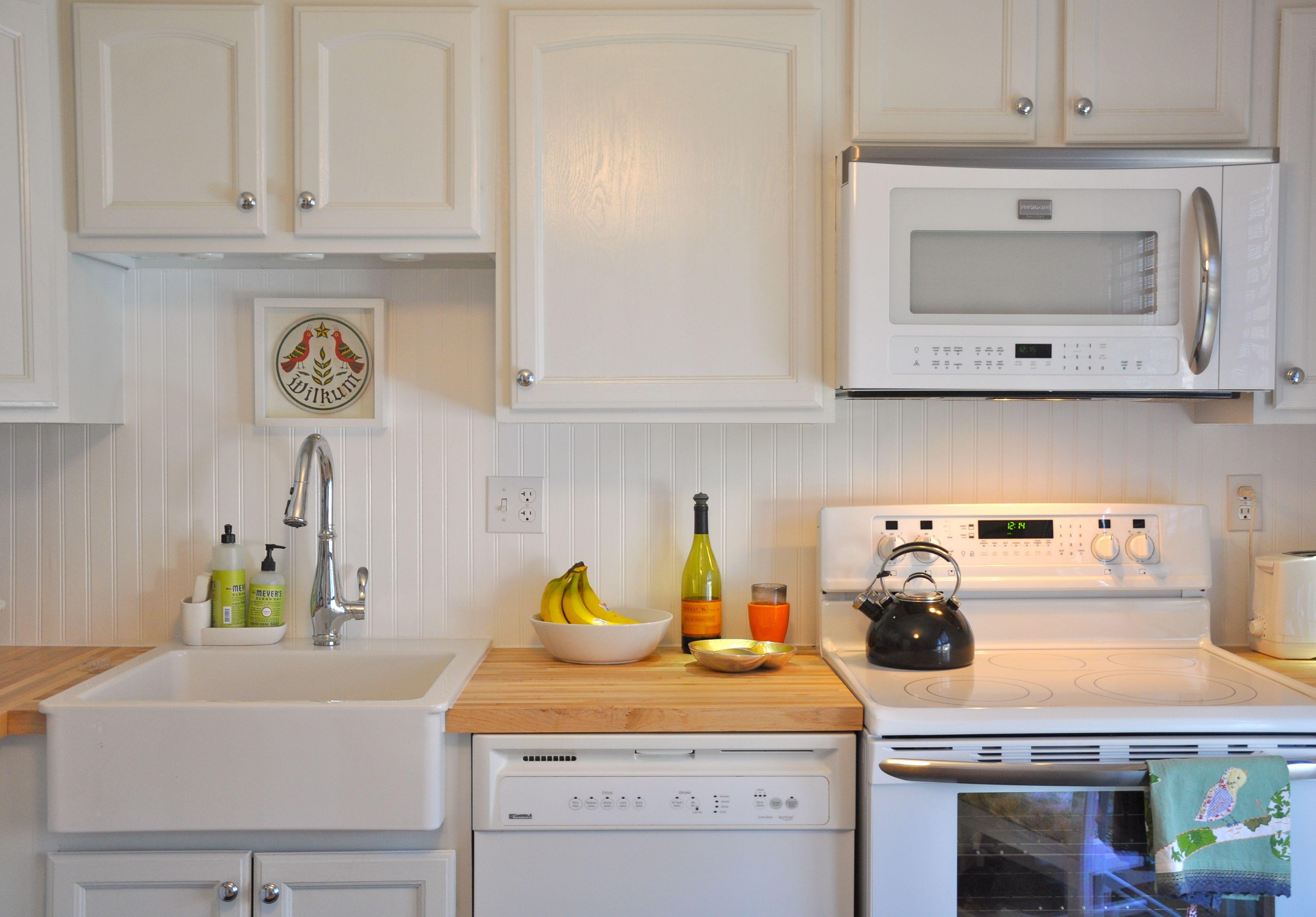 Kitchen Amazing White Beadboard Backsplash Kitchen Tiles With
