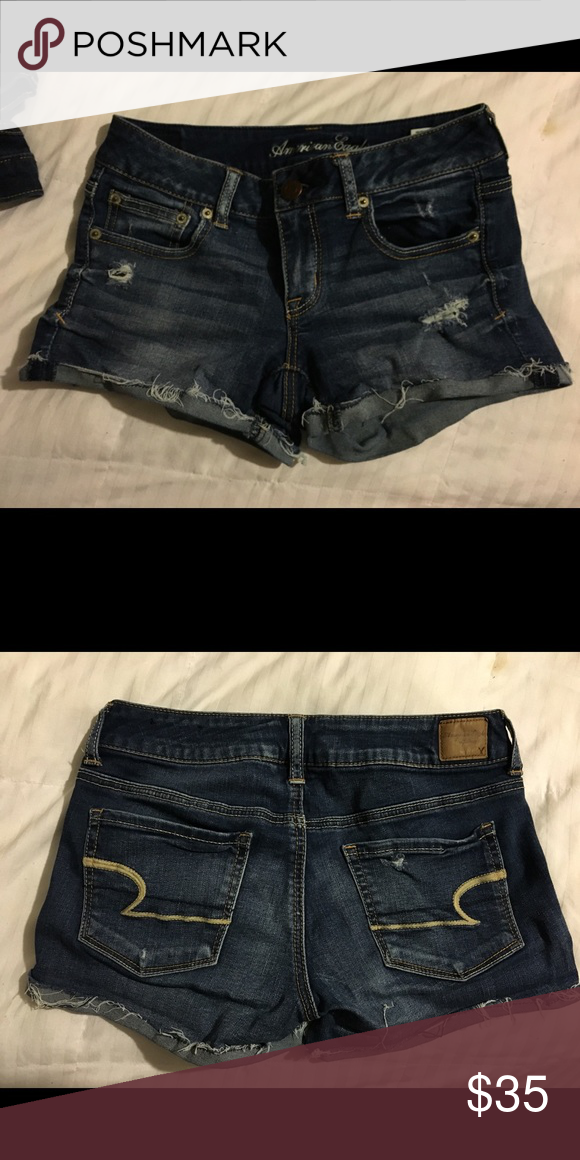 American Eagle Jean Shorts Practically new AE Jean shorts. Size 4 Part of the Sateen X denim line. Extremely soft and comfortable with a slight cuff  American Eagle Outfitters Shorts Jean Shorts