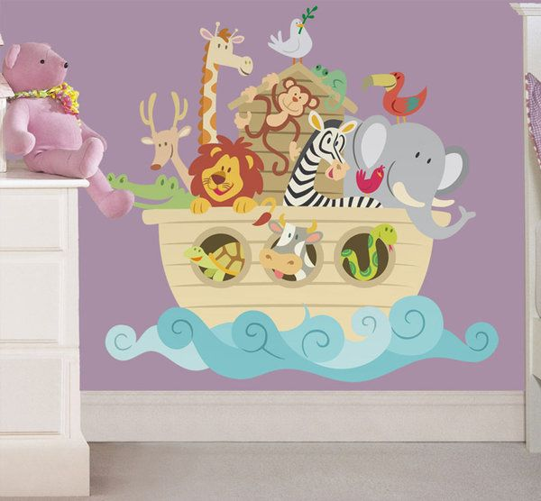 Cuartos de bebe decorados con el arca de - Cuartos de nina decorados ...