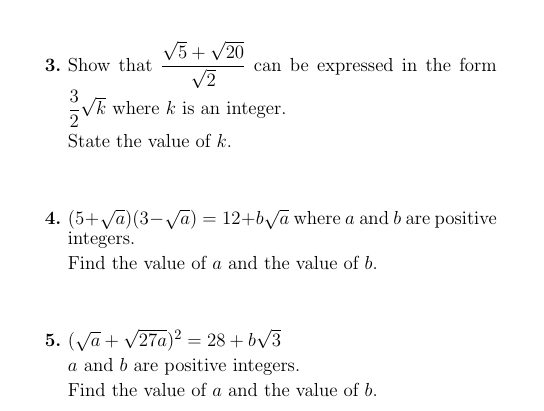 Surds A Worksheet On Surds Detailed Solutions Are Provided Math