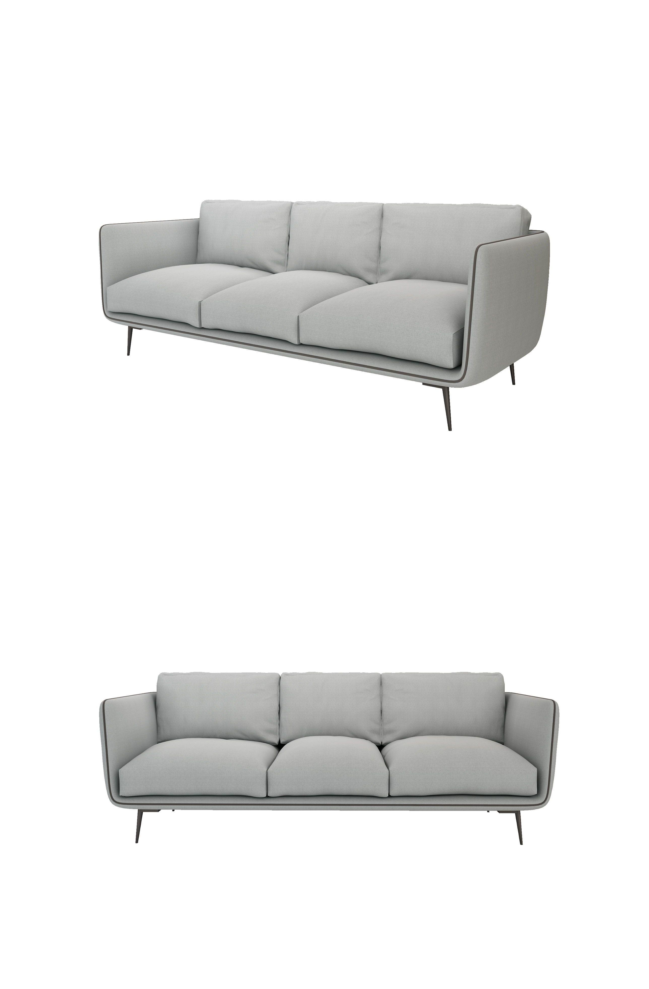 Modern Sofa Grey W2200 D850 H440 Height Birch Frame Fabric Metal Feet Comfy Sofa Mid Century Leather Sofa Outdoor Sofa Comfy Sofa