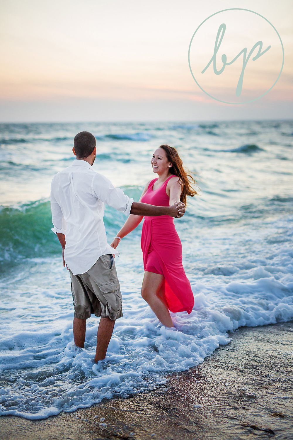 Long beach lighthouse wedding  Dancing in the waves on the beach at Cape Cod bigpicturephotoco