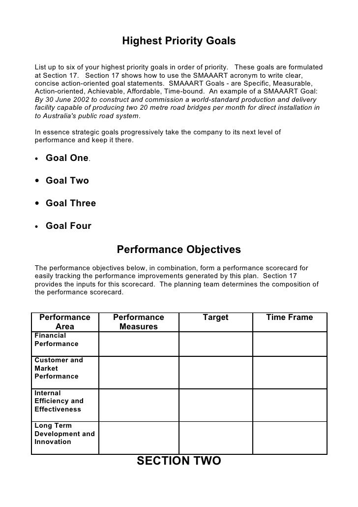5. Comprehensive Strategic Business Plan Template | Negócio ...