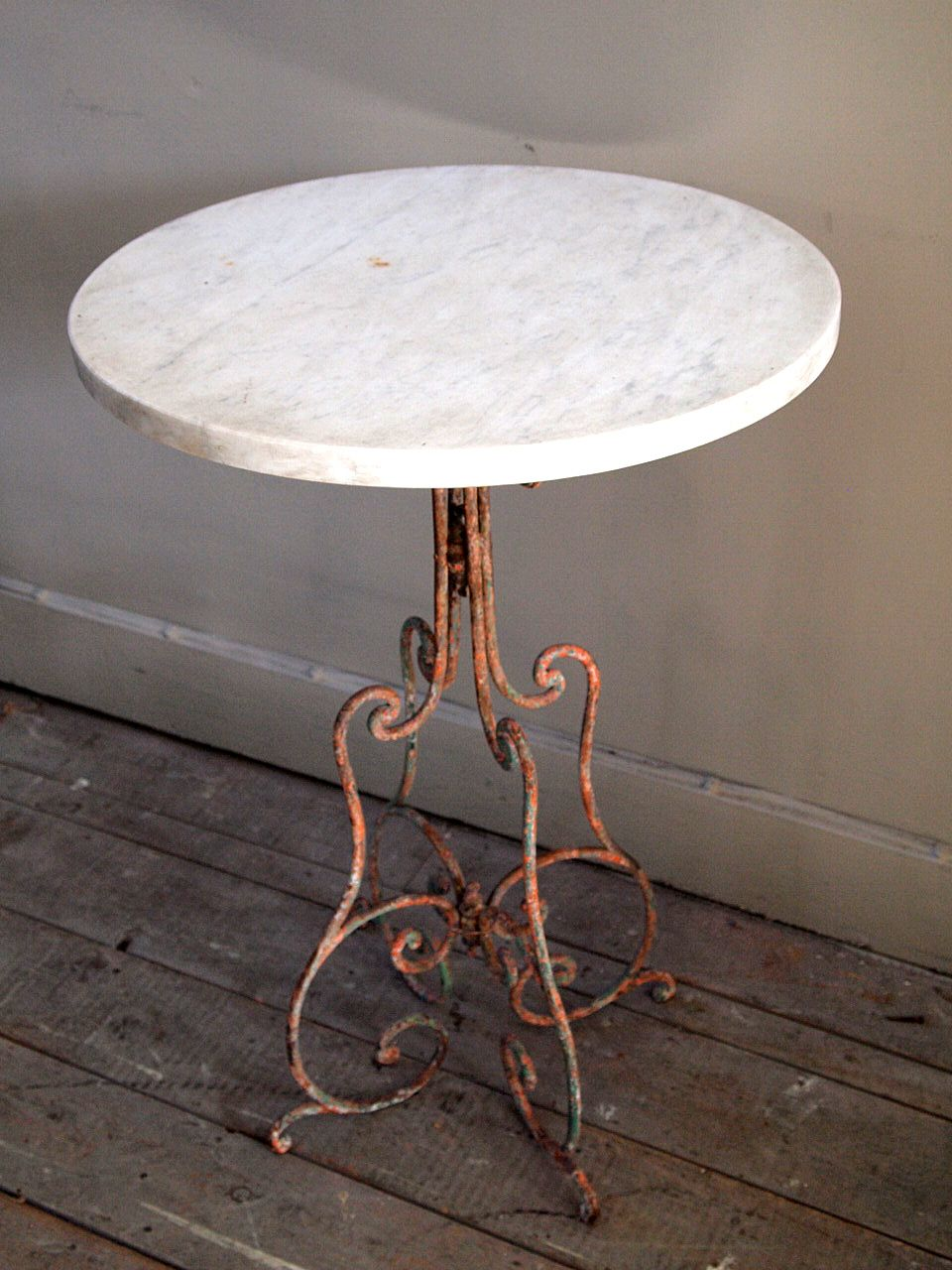 Artwork Of Marble Top Bistro Table For Home Or Cafe