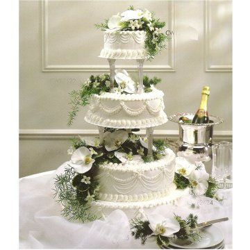 old fashioned wedding cakes pictures | Decked with roses and babies ...