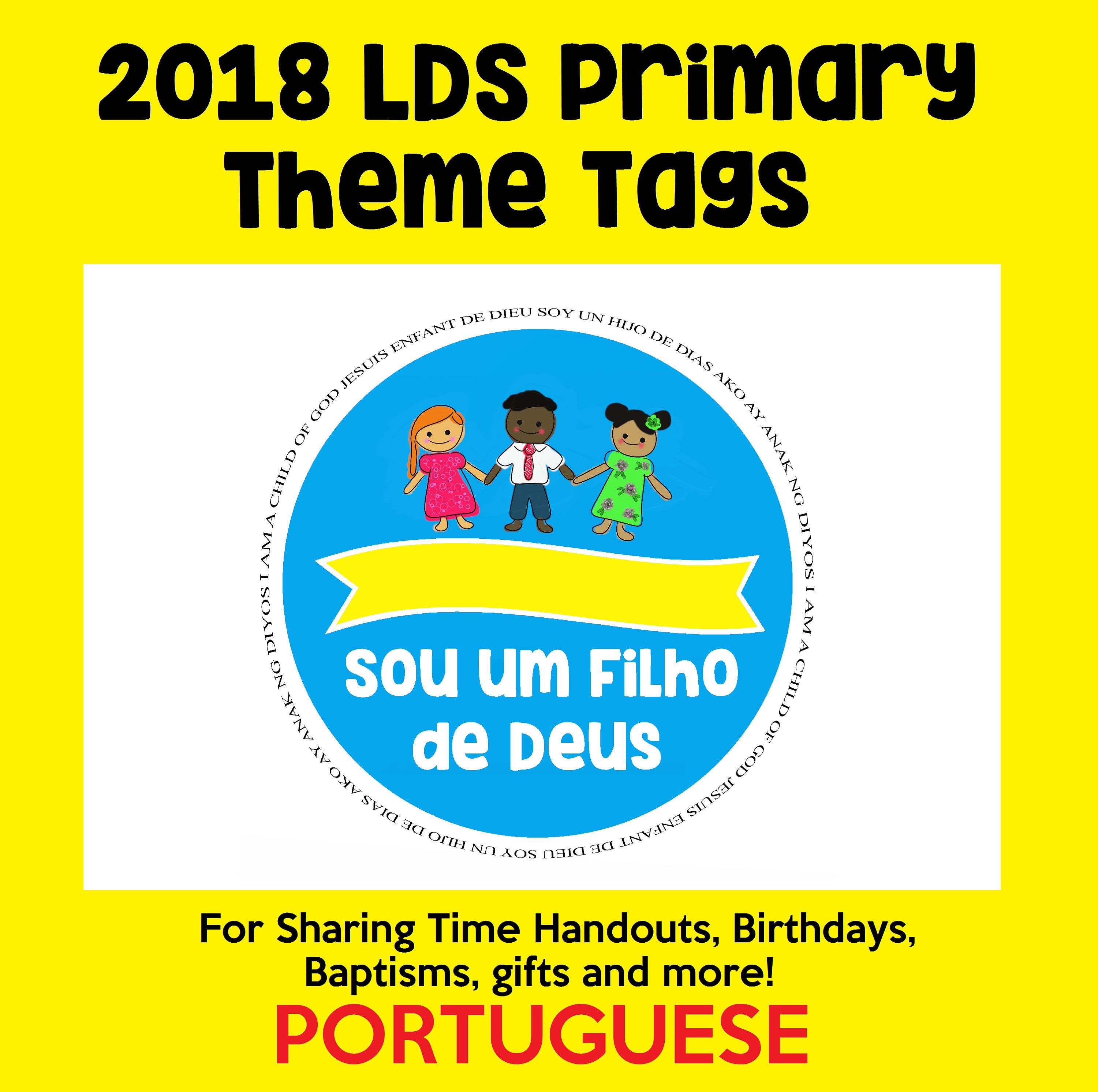 Digital Instant Download Portuguese Lds Primary Theme