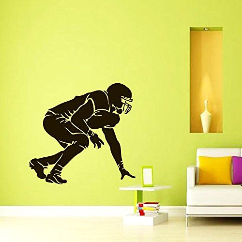Vinyl Wall Decals Football Player Sport Decal Boy Room Kids Nursery ...