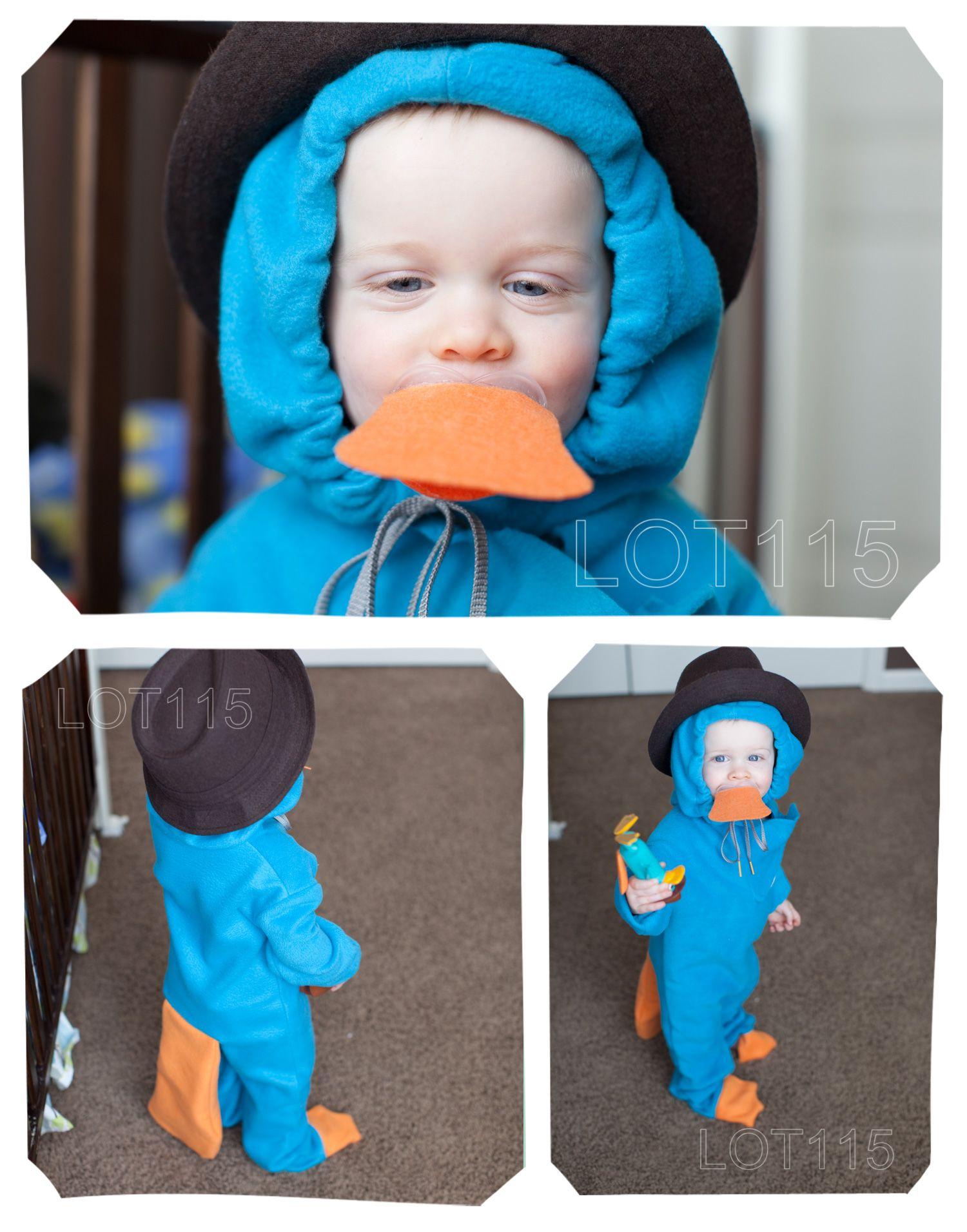 perry the platypus kids costume diy