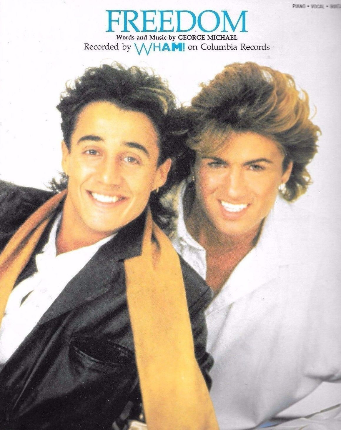 Wham George Michael Freedom Piano Vocal Guitar Sheet Music Rare On Sale New George Michael George Michael Wham Andrew Ridgeley