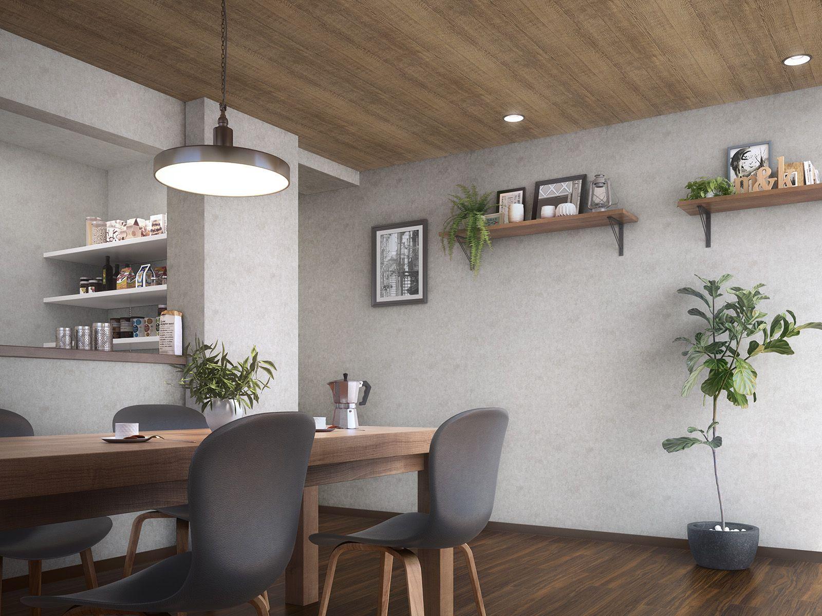 Fe6175 施工例 サンゲツ ホームページ リビング インテリア 部屋壁紙 おしゃれ インテリア 家具