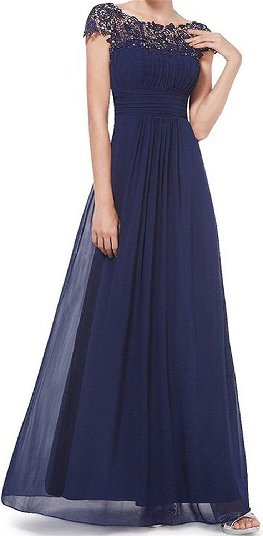Queenworld chiffon goddess long prom dress bridesmaid save this