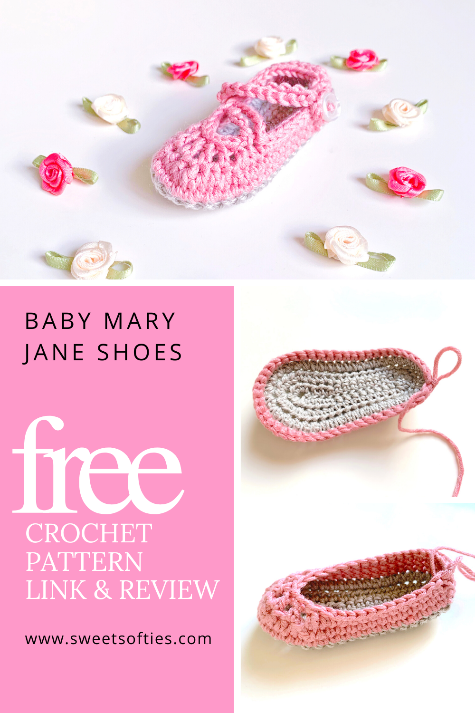 Free crochetpattern: Baby Mary Jane Shoes  #sweetsofties#yarn #art #craft #crochet #diy #tutorial #pattern #free #cute #beginner #beginners #gift #crochetideas#easy #baby #babygirl #shoes #crochetshoes #crochetaccessories #crochetbaby#babycrochet #maryjaneshoes