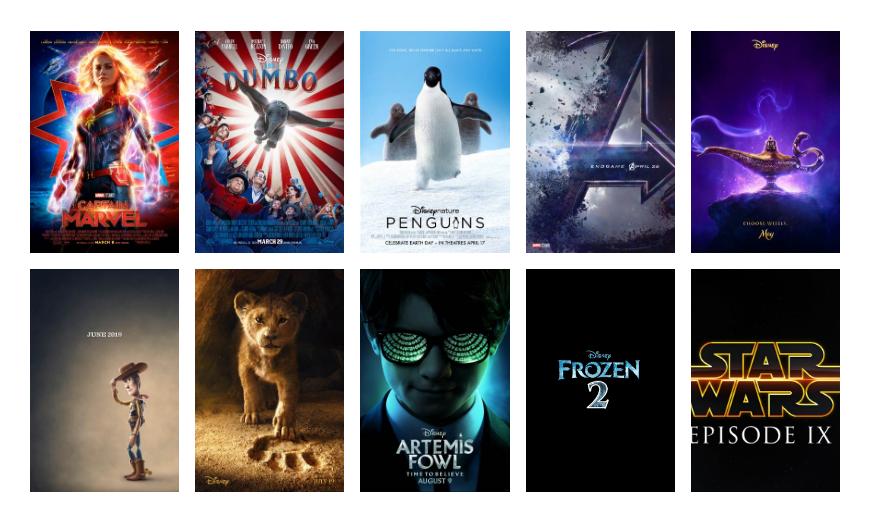 Walt Disney Studios Motion Pictures 2019 Movie Release Schedule Disney Studios Walt Disney Studios Disney
