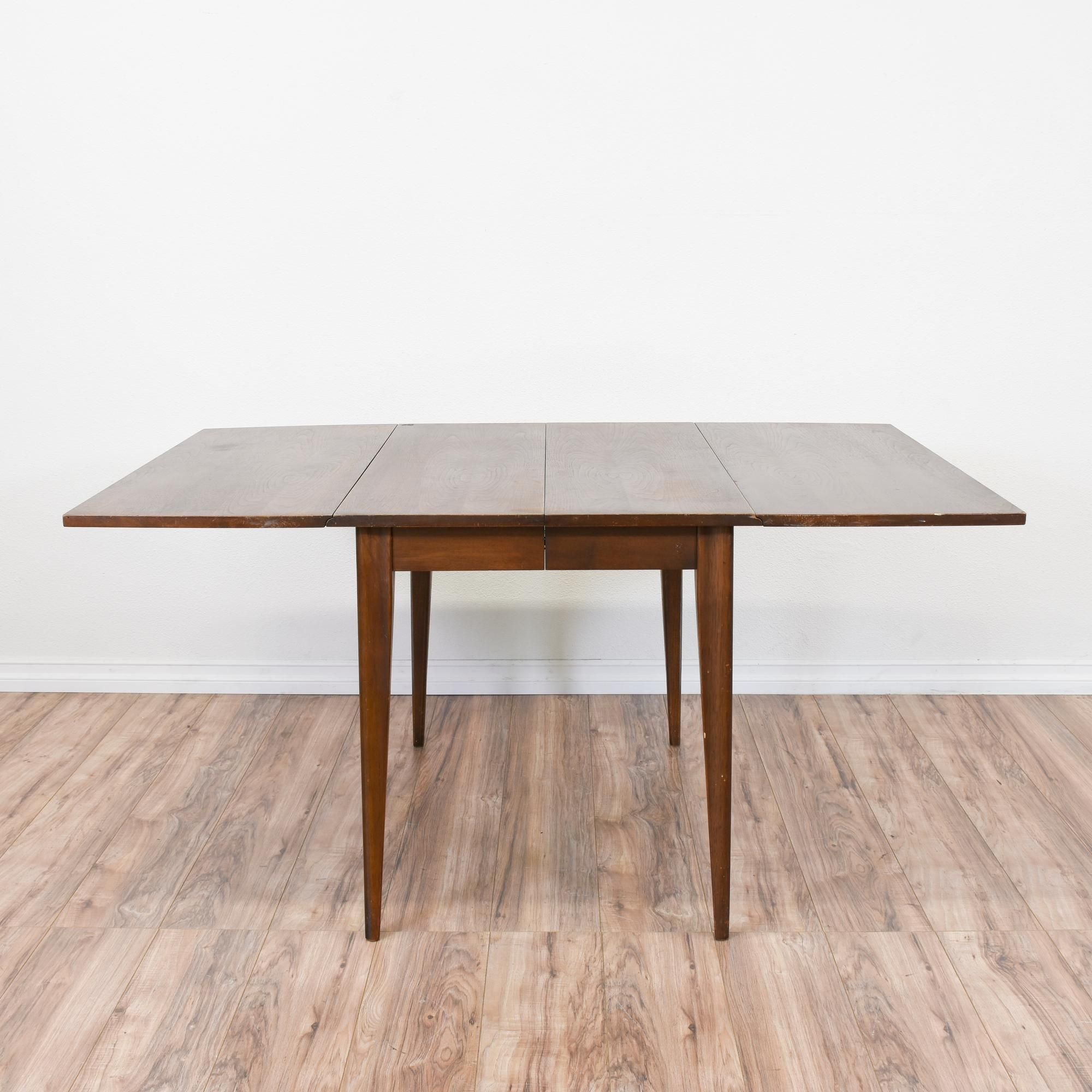 This Mid Century Modern Drop Leaf Table Is Featured In A Solid