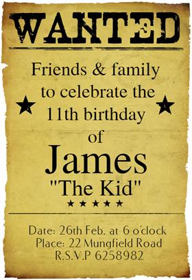 western birthday party free printable birthday invitation template