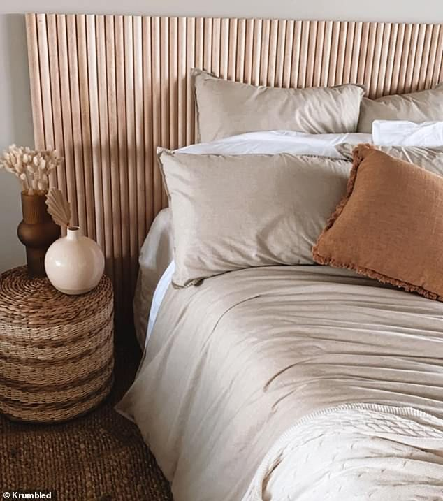 Woman makes coastal-inspired DIY headboard out of Bunnings ...