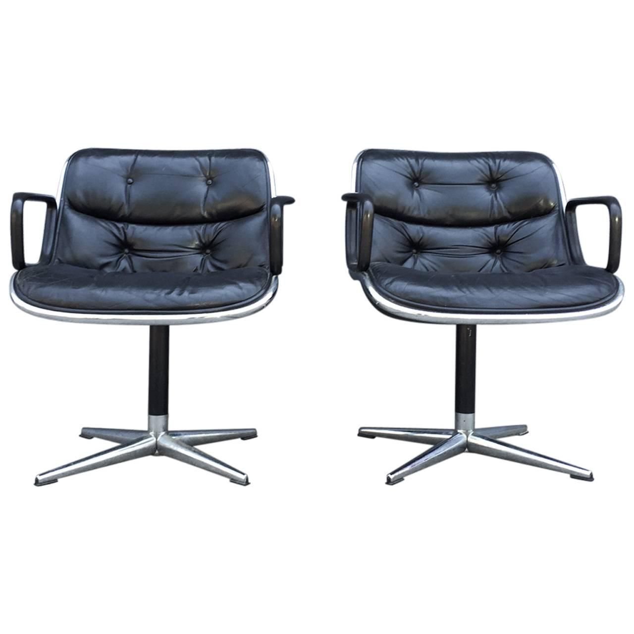 Fabulous Pair Of Early Charles Pollock For Knoll Accent Chairs Soho Uwap Interior Chair Design Uwaporg