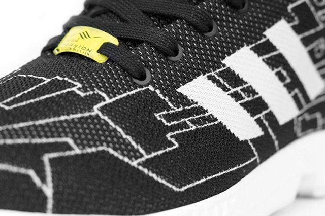 adidas originali zx flusso (black / onix), scarpe da ginnastica sgorbio scarpa