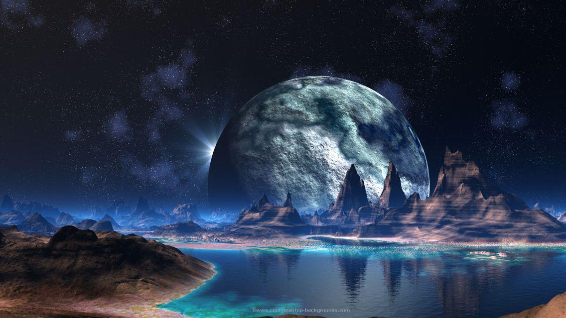 Cool Planetary Landscape Sci Fi Wallpaper Cool Backgrounds Space Desktop Backgrounds