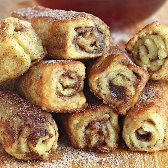 French Toast Roll Ups #frenchtoastrollups