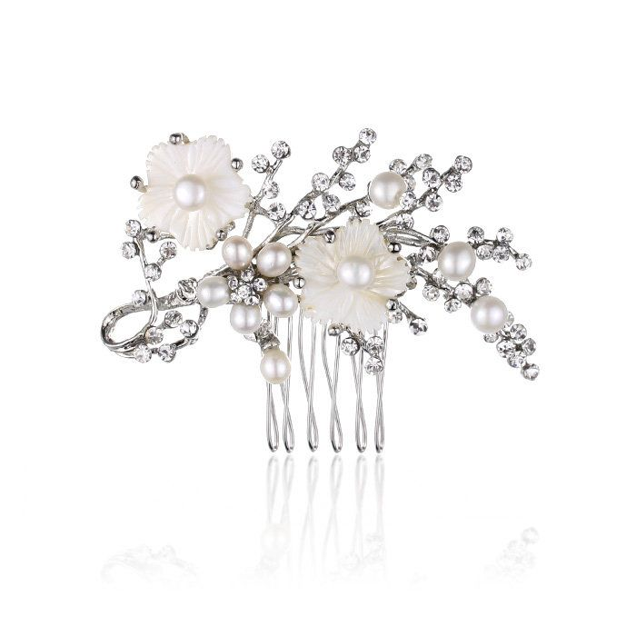 Cherry Blossom Pearl Comb - Kate Ketzal Jewellery & Adornments