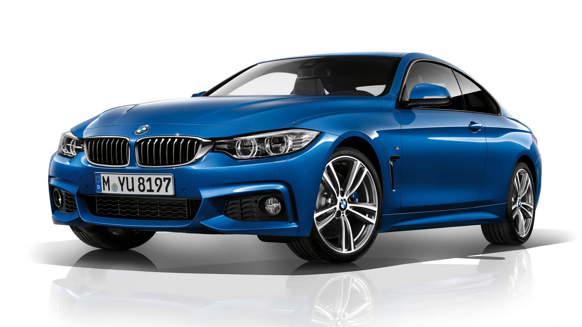 Blue bmw 4 series coupe