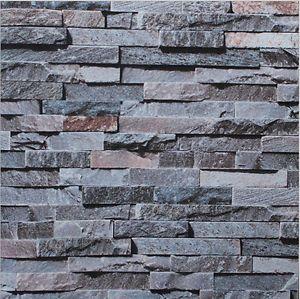 3D-Brick-STONE-Natural-Colour-Slate-outdoor-rustic-look-Rock-10M-Wallpaper-Roll