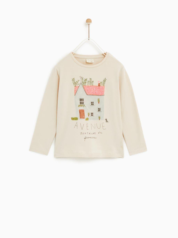 Zara Imagen Brillos De Casa 1 Camiseta WYE2IDH9