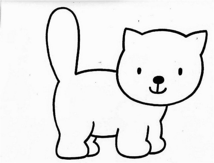 Coloring Page Base (With images) | Cat coloring page, Cat ...