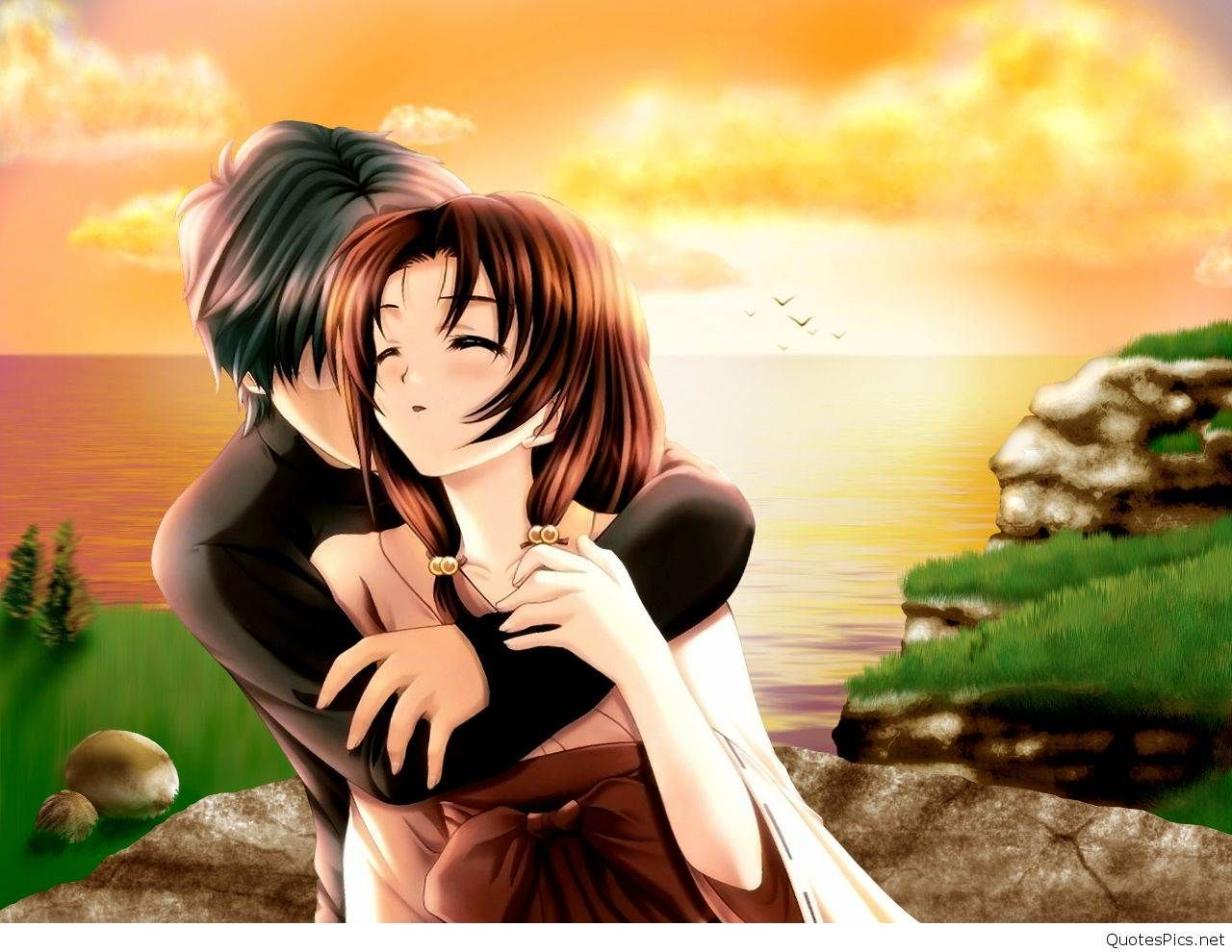 Cute Couple Pic Cartoon Dp