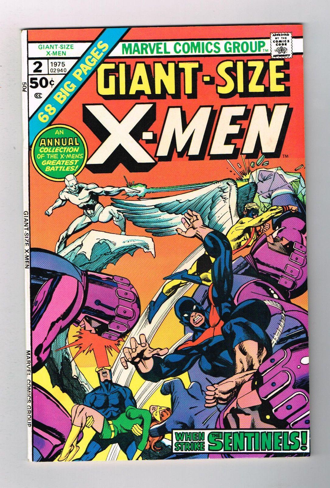 Giant Size X Men 2 Bronze Age Grade 70 With Beautiful Gil Kane Cover 291551018830 Jpg 1085 1600 Portada De Historieta Marvel Comics Comics