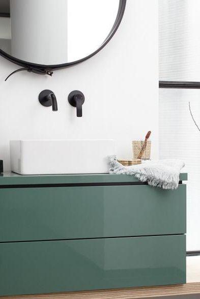 Waschbeckenunterschrank L Cube Jade Von Duravit Green Bathroom Wood Gubi Badezimmer Grun Badezimmer Renovieren Wc Mobel