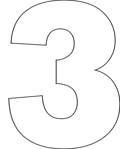 Free Printable Number Stencils 3 baking and such Pinterest - numbers templates free