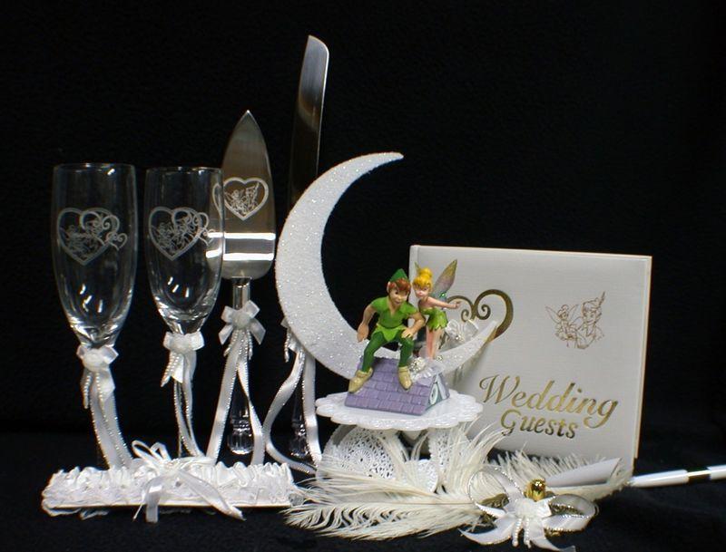 Disney Tinkerbell Peter Pan Wedding Cake Topper Lot Set