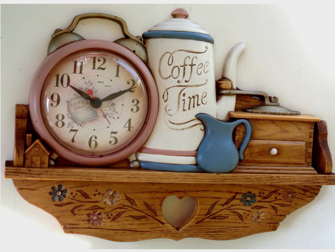 Coffee Pot Clock Vintage Kitchen Wall Decor Kitchen Wall Decor Kitchen Decor Themes Coffee Vintage Kitchen