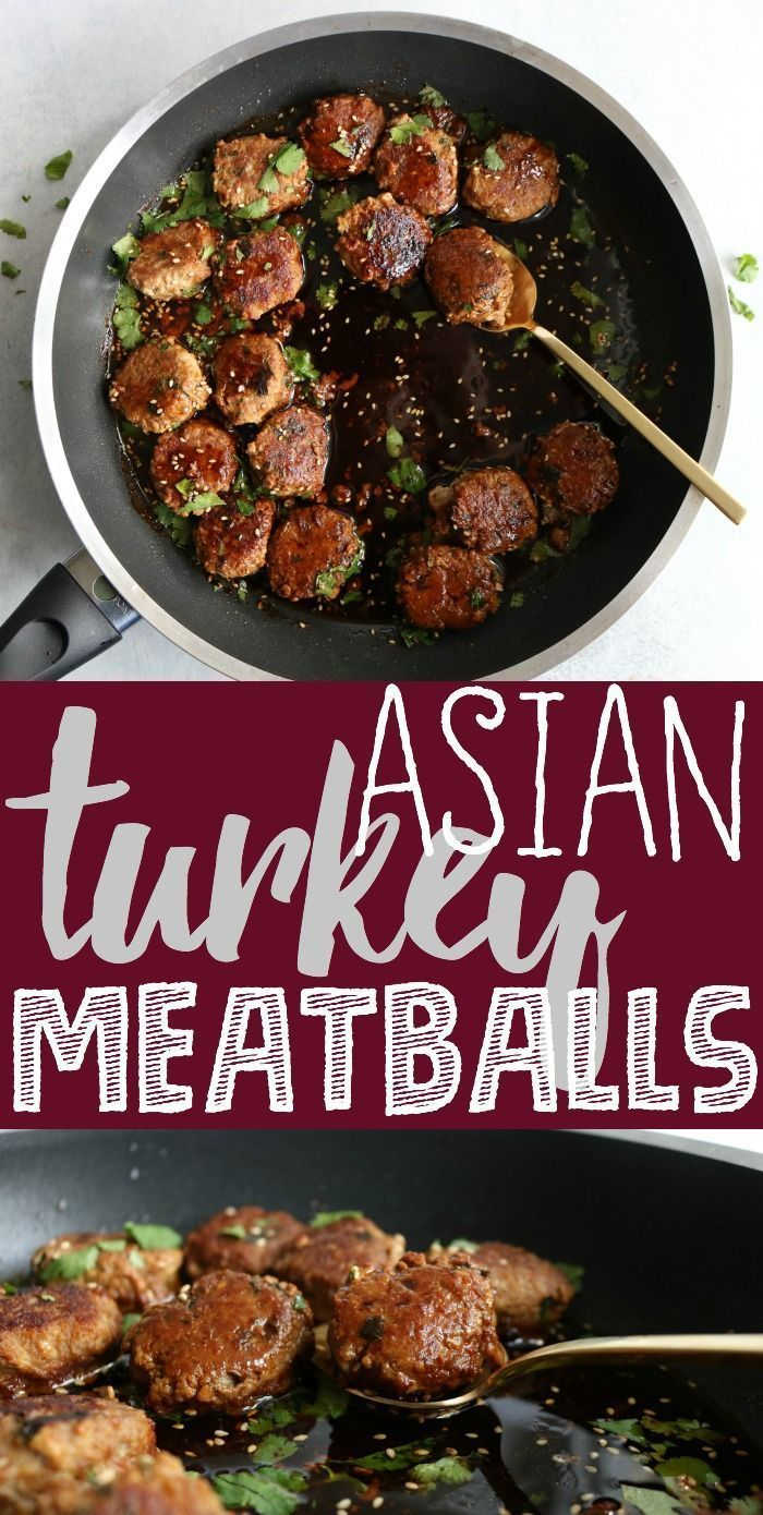 The best Asian turkey meatballs recipe ever!! I'm telling you, this is the onl...,   Meatball Recipes