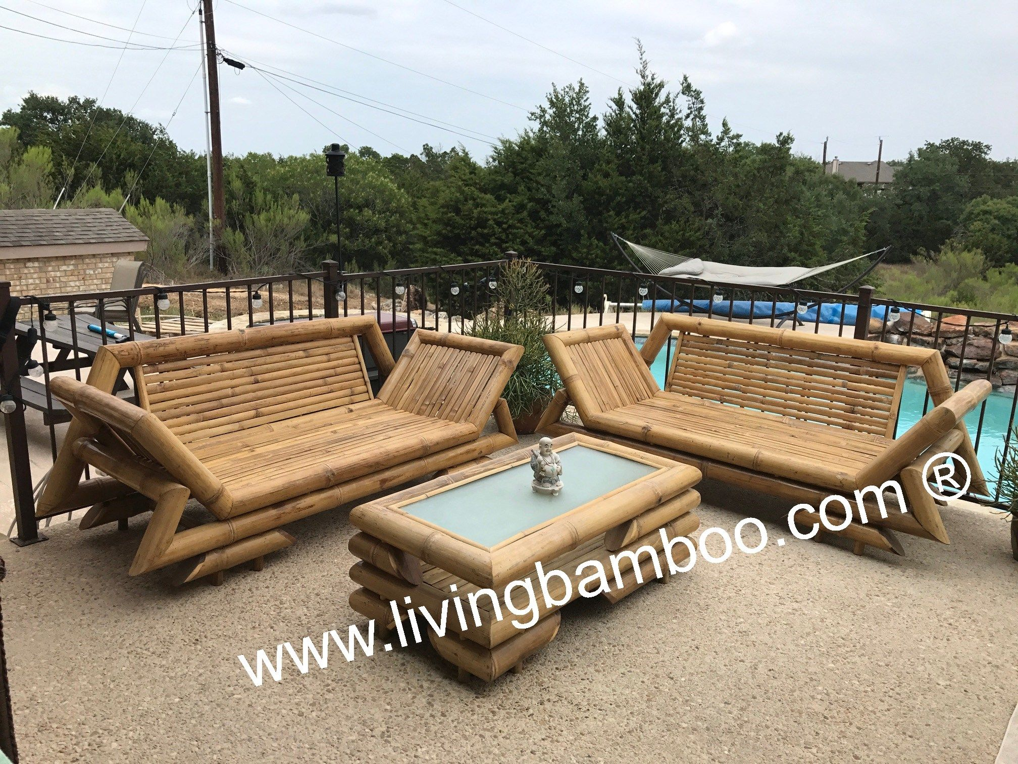 Bamboo Patio Furniture Set