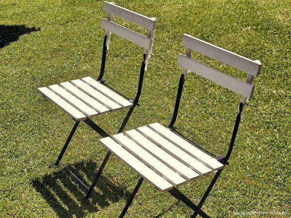 Un fantástico tuneo para un juego de mesa y sillas de jardín ...