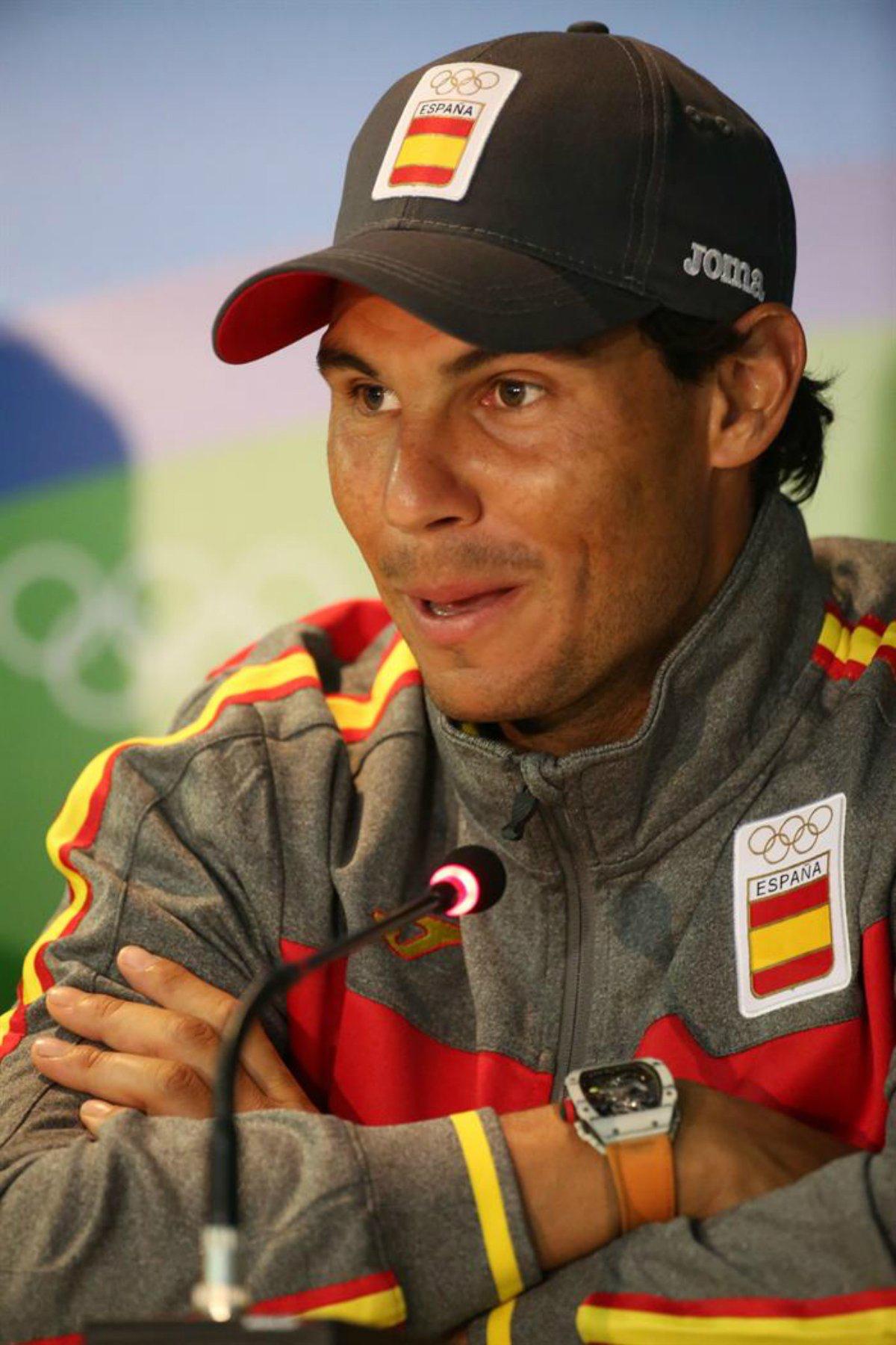 Rafa Nadal press conference photos (EFE)  Olympics 2016 Rio