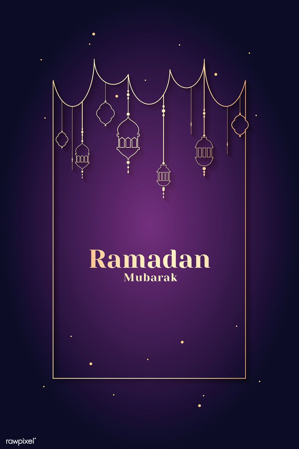 Ramadan Mubarak Frame With Lantern Vector Free Image By Rawpixel Com Vector Vectoart Digitalpainting Digitalartist Garphicdesign Sketch Digitaldrawing
